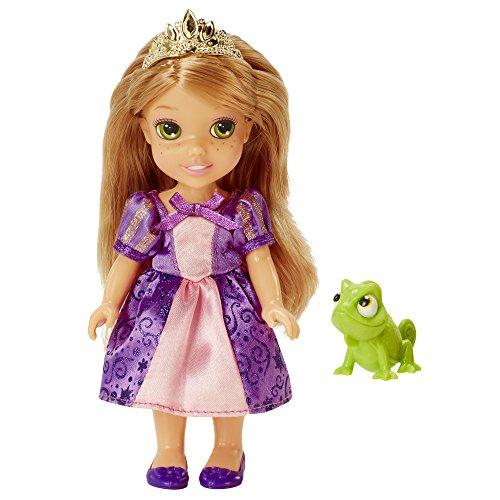 Jakks 98962-EU Rapunzel Disney Princess Kleine Prinzessin Puppe, 15 cm (Princess Disney Krone Aurora)