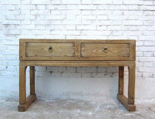 China shanxi de 1860 petit buffet garderobentisch bois d'orme claire