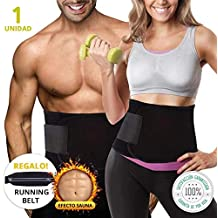 Fajas Reductoras Adelgazantes Neopreno Unisex + Cinturon Running Regalo | Faja Reductora Hombre Y Mujer |