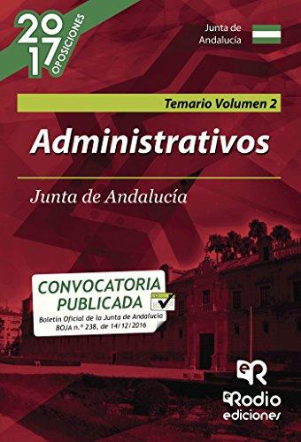Administrativos. Junta de Andalucía. Temario. Volumen 2 por Varios  autores