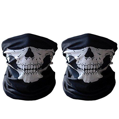 Black Mask Xpassion Cranio Tubolare Protettivo Polvere Maschera Bandana Moto Sciarpa Poliestere Viso Collo Scaldino 2 Parti Mólto