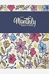 Undated Monthly Budget Planner: Large Annual Financial Budget Planner And Tracker With Inspirational Quotes Navy Stripe Floral (Household Budget Planner) Paperback