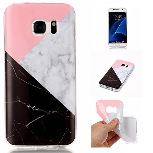 Cozy Hut Für Samsung Galaxy S7 Handyhülle mit Marmor / Marble Design(schwarz / Pink und weiß) | Handytasche | | Schale | | Hülle | | Case | Handy-etui | (Mickey Ohren Hut Mit)