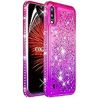 OKZone Funda para Samsung Galaxy M10 / A10 [Arenas Movedizas] Liquida Moda Flowing Diseño Diamante Creativo Arenas Movedizas TPU Silicona Fundas Carcasas (Rosado Morado)