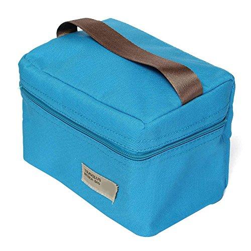 aikesi Mittagessen Kühltasche Picknick-Tasche Picknick-Tasche mit Isolierung Wasserdicht Mode-Box von Mittagessen 18 x 12 x 11.5 CM blau