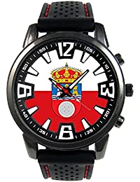 Cantabria España Reloj para hombre con correa de silicona