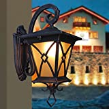 Pumpink European Style Antique Sturdy Compressive Aluminium Single Head Wandleuchte Wandleuchte Chinese Style Kreative Retro Patio Tür Wasserdicht Outdoor Wand Laterne Wand Sconce Weide Wein Keller Te