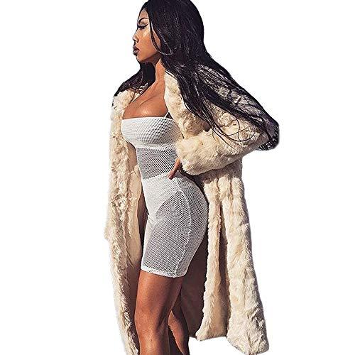 Tonsee  Manteau Femme, Nouvelle Mode Adies Hooded Chaud Manteau en Fausse Fourrure Veste d'hiver Parka