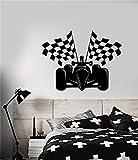 Wall Art Stickers Cotizaciones y refranes Auto Racing Fórmula 1 Coche con Racing Flag