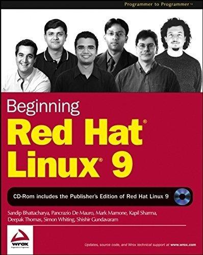 Beginning Red Hat Linux 9 (Programmer to Programmer) 1st edition by Bhattacharya, Sandip, De Mauro, Pancrazio, Mamone, Mark, Sha (2003) Paperback par Sandip, De Mauro, Pancrazio, Mamone, Mark, Sha Bhattacharya