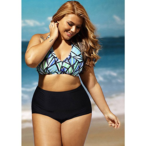 Xiaotiantian La Diva Glass Beach Plus Size bikini a vita alta , as figure , (Diva Abito)