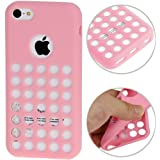 iPhone 5C Case Etui Coque en gel silicone souple Housse Apple - ROSE -