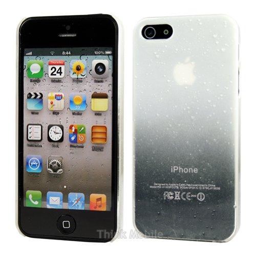 Apple iPhone 6 TPU Gel Case - Blau Apple iPhone 6 Tasche Flip Case Leder Cover Schutz Hülle Etui Schale - thinkmobile Regentropfen Weiss