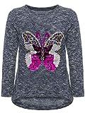 BEZLIT Mädchen Kinder Pullover Wende Pailletten Schmetterling Meliert Langarm 22854 Blau 116
