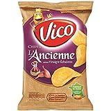 Vico chips à l'ancienne saveur vinaigre à l'échalote 125g (Prix Par Unité) Envoi Rapide Et Soignée