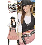 Western Belle Costume Large for Wild West Cowboy Fancy Dress -