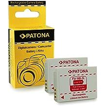 2x Batteria NB-5L per Canon Digital Ixus 90 IS | 800 IS | 850 IS | 860 IS | 870 IS | 900 Ti | 950 IS | 960 IS | 970 IS | 980 IS | 990 IS - PowerShot S100 | S110 | SD770 IS | SD790 IS | SD800 IS | SD850 IS | SD870 IS | SD880 IS | SD890 IS e più…
