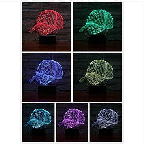 YS753 Houston Astros Baseball Cup 3D Led Lampe Nacht Touch Sensor RBG 7 Farbwechsel Kinder Kinder Geschenk USB Nachtlicht Dekor Houston, Usb