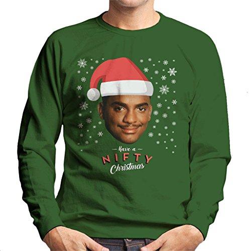 Carlton Banks Have A Nifty Christmas Fresh Prince Men's Sweatshirt
