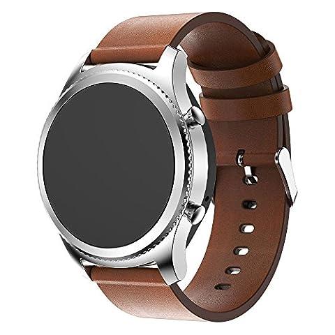 Leder Armbanduhr Band, happytop Sporting Armband Armband Ersatz Handschlaufe für Samsung Gear S3Frontier S