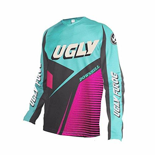 Uglyfrog 2018 New Bike Wear Herren Downhill/MTB Jersey Mountain Motorrad Kleidung Fahrradtrikot Langarm Freeride BMX Fr¨¹Hling Top
