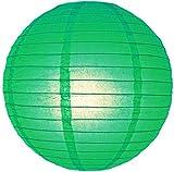 Papierlaternen, runder Lampenschirm, für Hochzeit, Geburtstag, tolle Partydekoration, 10/15/20/25/31/36/41 cm, grün, 16