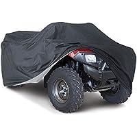Suntime Quad ATV Abdeckung Aus Reißfestem 190T Gewebe UV Schutz Durable Motorradgarage Lagerung Gegen Winter Schnee Regen Sonne und Staub für Honda Polaris Yamaha Suzuki (Schwarz & XXXL