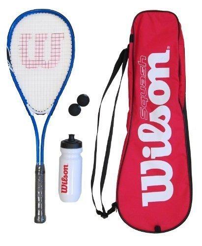 Preisvergleich Produktbild Wilson Squash-Schläger,  inklusive Bällen,  Wasserflasche und Tasche