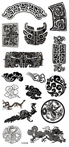 Neues Design und heiße verkaufen verschiedene Totems, Phönix und Drachen realistisch und gefälschte temporäre Tattoo-Aufkleber -