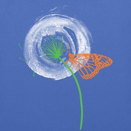 Spreadshirt Animal Planet Pusteblume Mit Schmetterling Stoffbeutel Hellblau