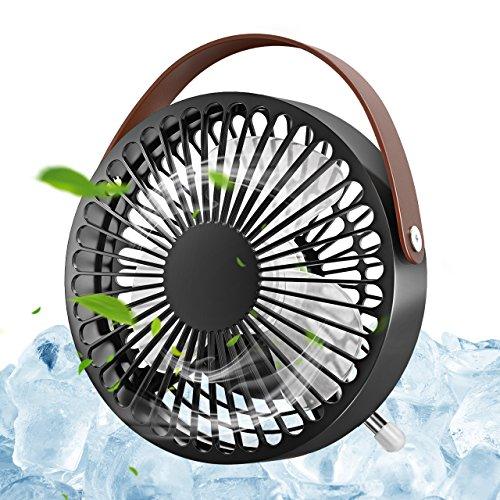 Foto de OMORC Ventilador Silencioso, Pequeño y Potente, Refresca El Airel Rápido, Funcionar con Cualquier Puerto USB, Multi-Ángulo Ajustable