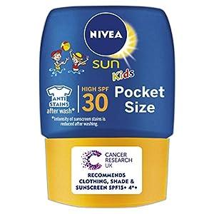 Nivea sun – Kidsloción solar de bolsillo para niños, factor de protección solar 30-50 ml
