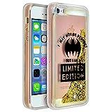 DC Comics Coque iPhone 5 / 5S / Se Coque Design Batgirl Protection Polycarbonate avec Glitter - Transparent