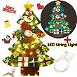 FunPa Feltro Albero Natale, 3.28ft della Feltolta di DIY con 50 LED Catene Luminose 30 Ornamenti Staccabili Regali di Natale di Nuovo Anno p …