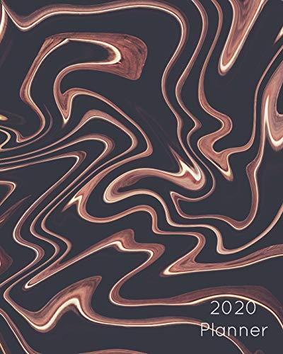 2020 Planner: Coffee & Chocolate Swirl : Large Weekly Simple Planner : 52 Week Agenda :  8x10 Soft Cover Coffee Brown Swirl