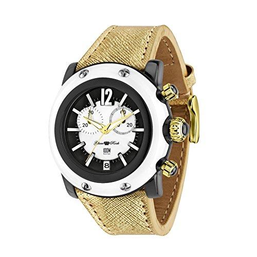 Glam Rock Women's Miami Beach 46mm Brown Leather Band Polycarbonate Case Quartz Black Dial Watch GR25134