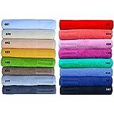 Handtücher Serie Venecia in 16 Farben, Waschlappen, Seiflappen, Gästetuch, Handtuch und Duschtuch Grösse Duschtuch 70x140 cm, Farbe 042 apricot