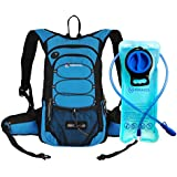 Miracol Hydration Backpack With 2L Water Bladder - Thermal Insulation Pack Keeps Liquid Cool Up To 4 Hours Multiple Storage Compartment Best Outdoor Gear For Running Hiking Cycling And More