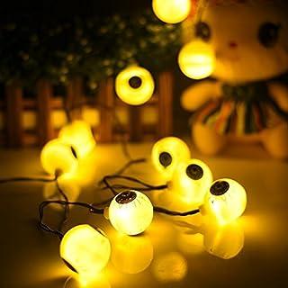 AntEuro Halloween Solar String Lights, 10 LED Solar Power Eyes Fairy String Light/Starry Light for Outdoor,Home,Patio,Garden,Thanksgiving,Christmas (Warm White)