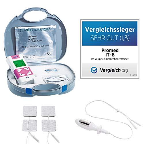 Promed IT 6, TENS Gerät mit Vaginalsonde, 4 Elektroden, Inkontinenzgerät, Beckenbodentrainer, Beckenbodentraining, Training der Vaginalmuskulatur & Beckenboden