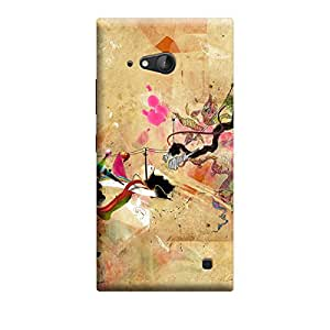 CaseLite Premium Printed Mobile Back Case Cover With Full protection For Nokia Lumia 730 (Designer Case)