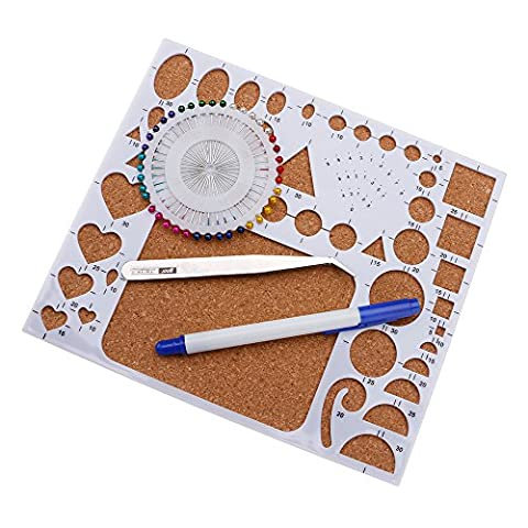 Huayang| 4Pcs/set Quilled Creations Circle DIY Scrapbooking Paper Quilling Template Mould Board Paper craft Handmade Photo Work board Set Greeting Cards Decoration Tool White