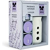 Iris Lavender Fragrance Ceramic Vapourizer with 5ml Oil and 2 Tealights
