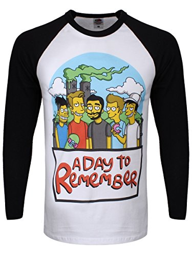 A Day To Remember -  T-shirt - Stampa  - Uomo Multicolore Bianco & Nero