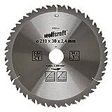 Wolfcraft 6737000 1 Lame de Scie Circulaire Ø 210 Mm, Ct, Alésage 30 Mm, 30 Dents,...