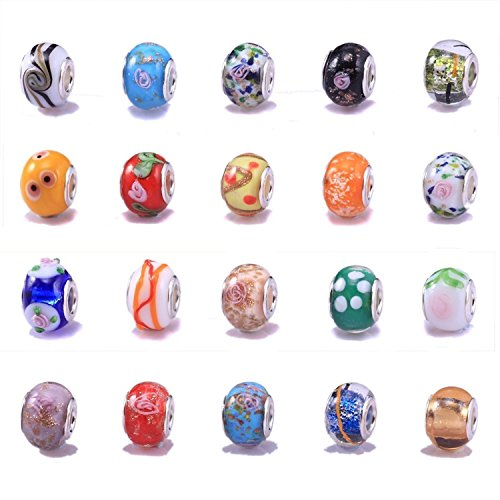 20 Mixed Murano Lampwork Glass B...