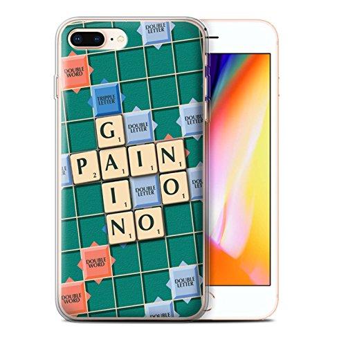 Stuff4 Gel TPU Hülle / Case für Apple iPhone 8 Plus / Pack 12pcs / Scrabble Worte Kollektion Schmerz Gewinn