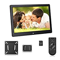 Andoer 17 inch Digital Photo Frame with Remote Control, High Resolution 1080P (Black)