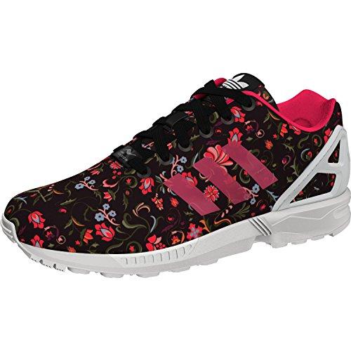 adidas Damen ZX Flux Sneaker Schwarz (Core Black/Vivid Berry S14/Ftwr White) 40 EU