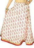 Cotton Hand Block Printed Border Skirt